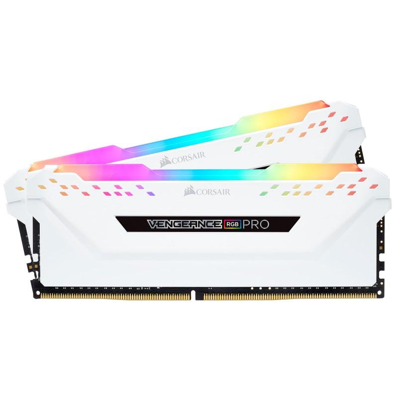 Corsair Vengeance Blanche RGB PRO Series 16 Go (2x 8 Go) DDR4 3200 MHz CL15